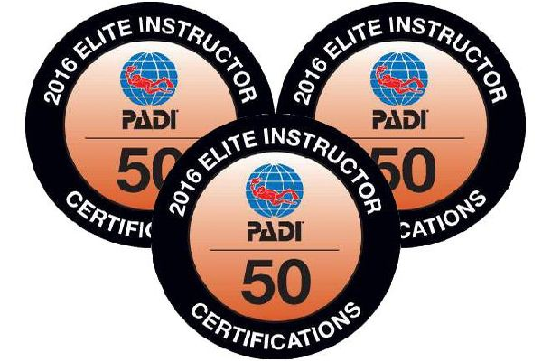PADI Elite Instructor Award